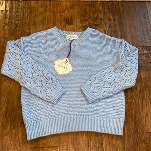 Knox Rose Crew Neck Sweater Blue XS